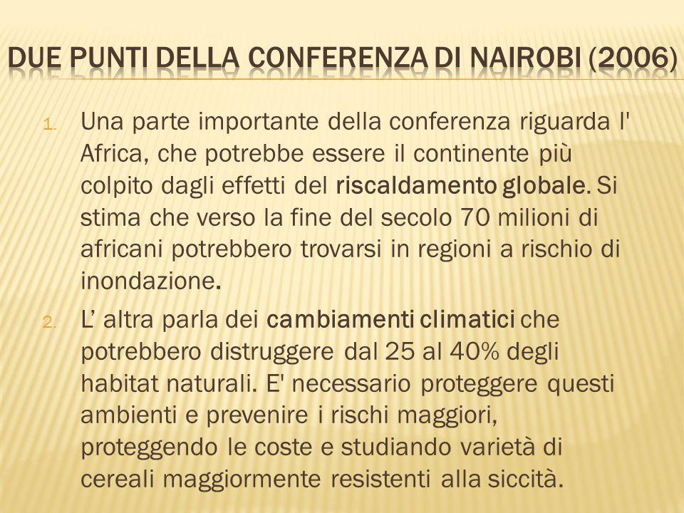 Due punti della conferenza di Nairobi (2006)