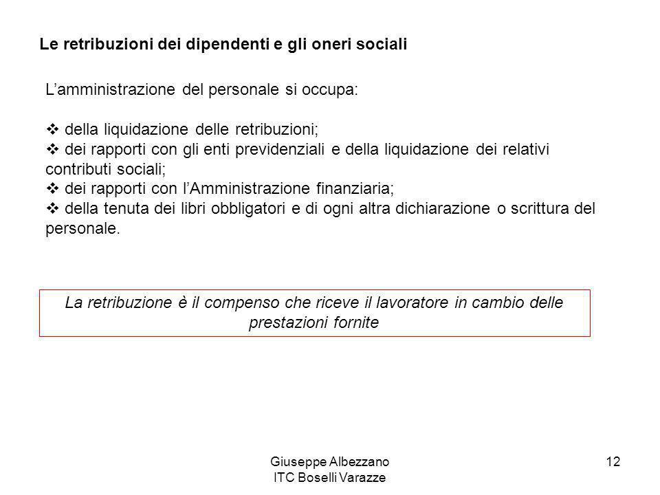 Le retribuzioni dei dipendenti e gli oneri sociali