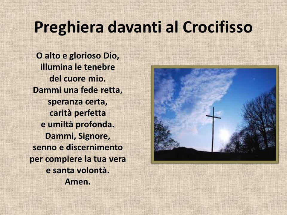 Preghiera davanti al Crocifisso