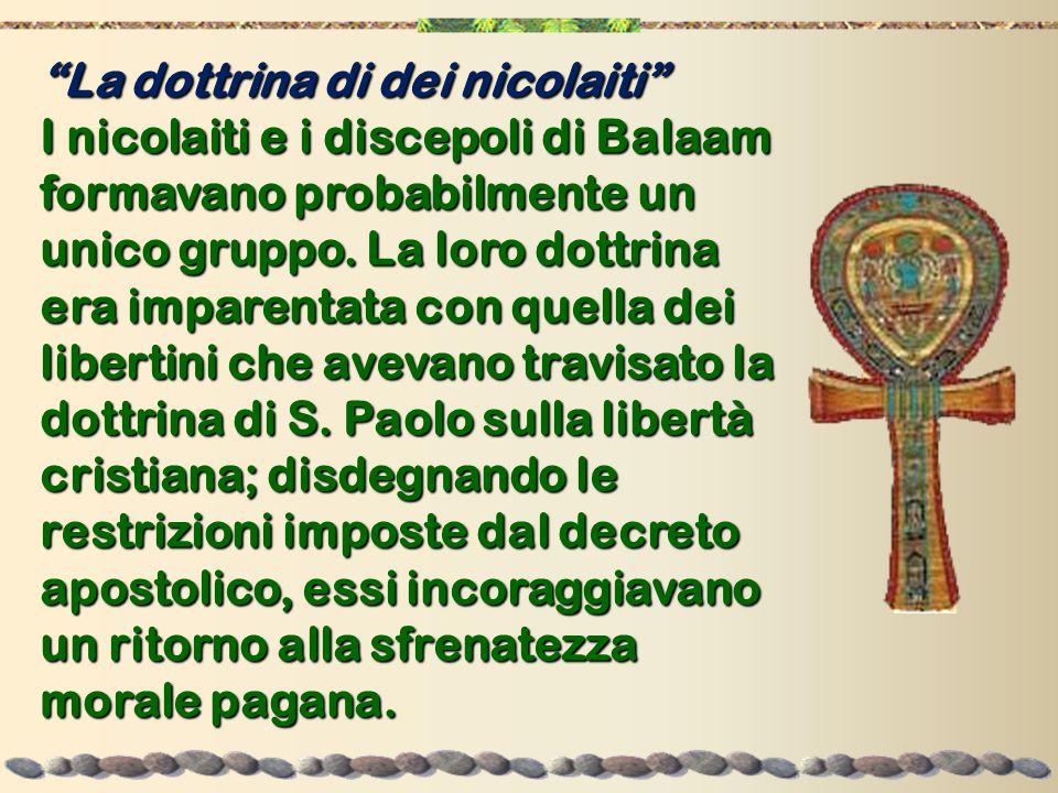 La dottrina di dei nicolaiti