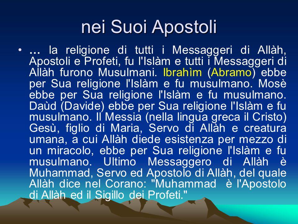 nei Suoi Apostoli
