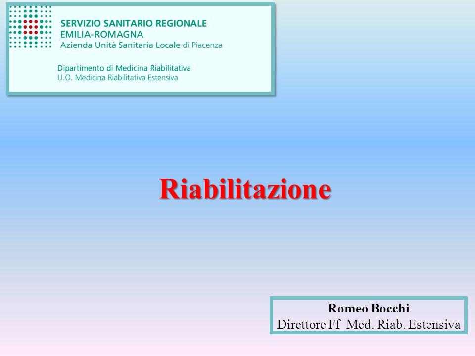 Romeo Bocchi Direttore Ff Med. Riab. Estensiva