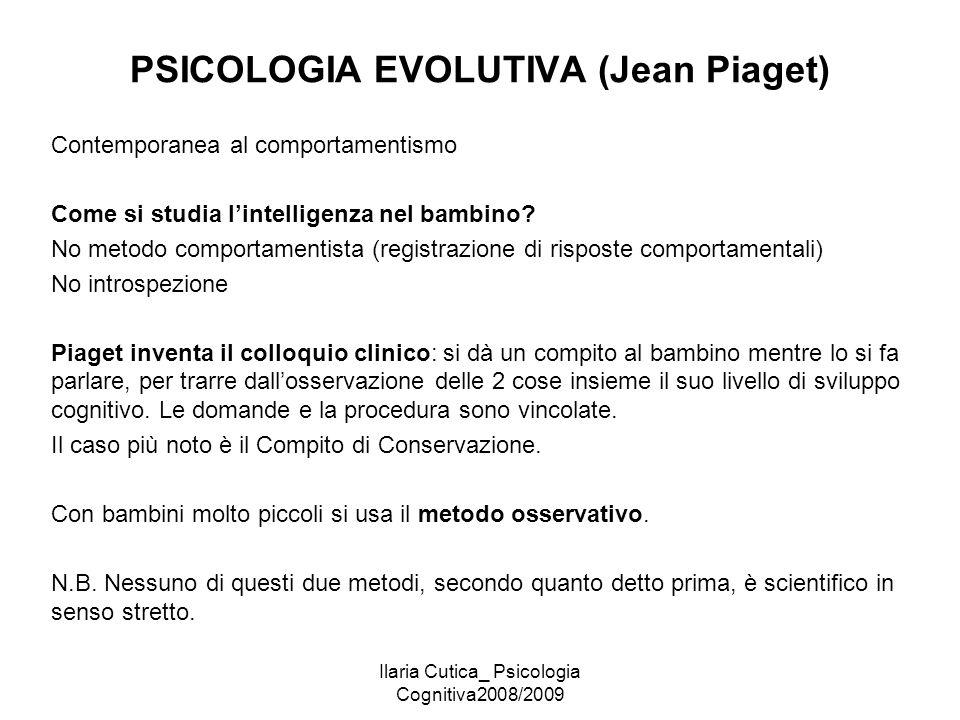 PSICOLOGIA EVOLUTIVA (Jean Piaget)