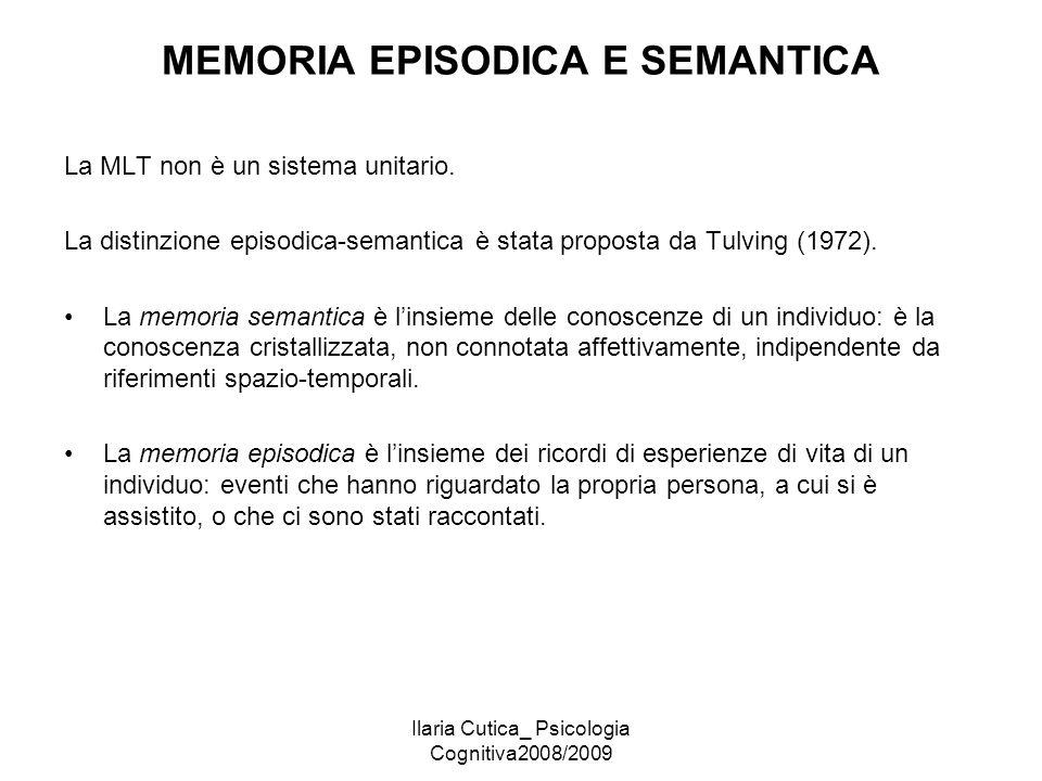 MEMORIA EPISODICA E SEMANTICA