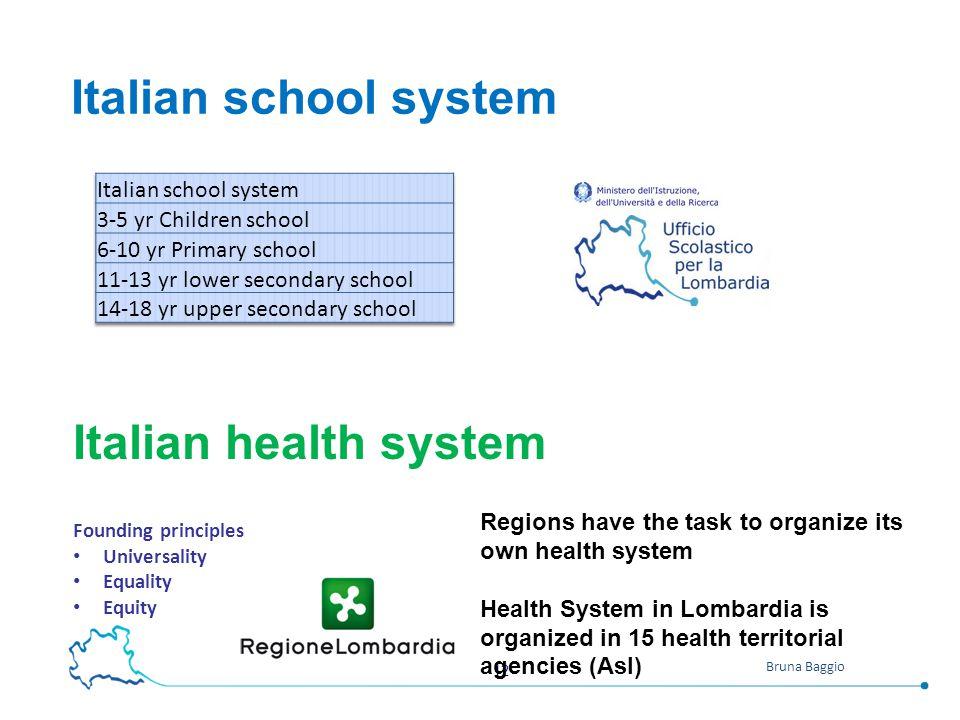 Italian school system Italian health system Italian school system