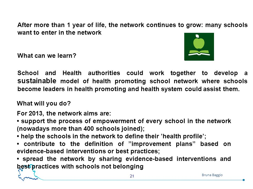 After more than 1 year of life, the network continues to grow: many schools want to enter in the network