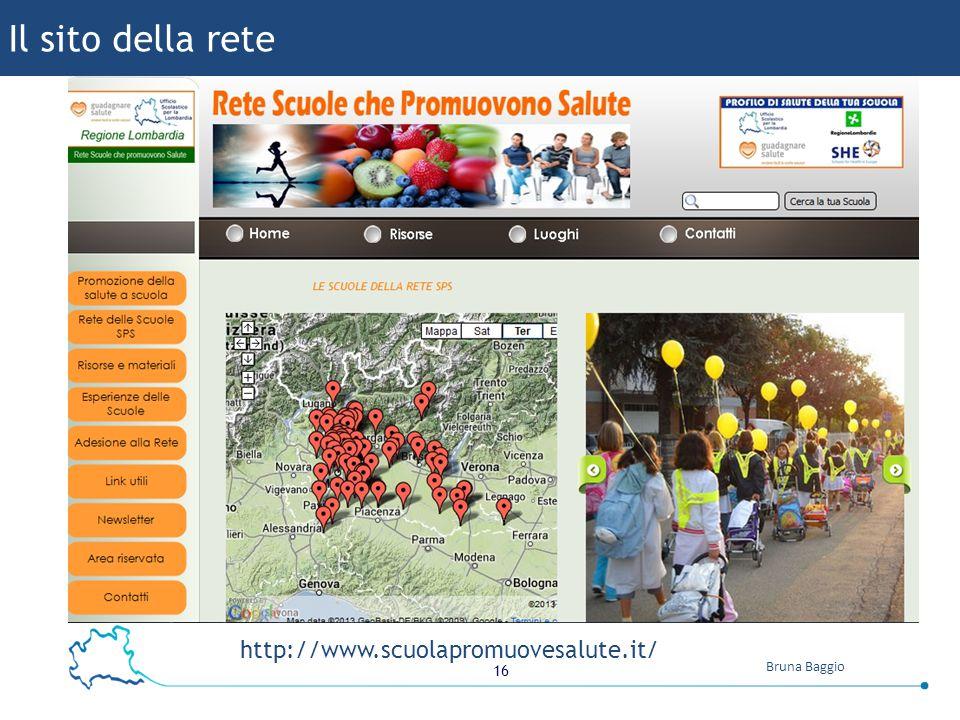 Il sito della rete http://www.scuolapromuovesalute.it/