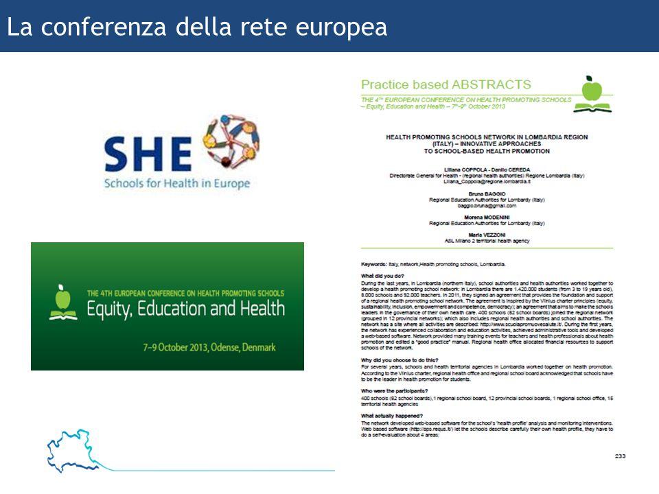 La conferenza della rete europea