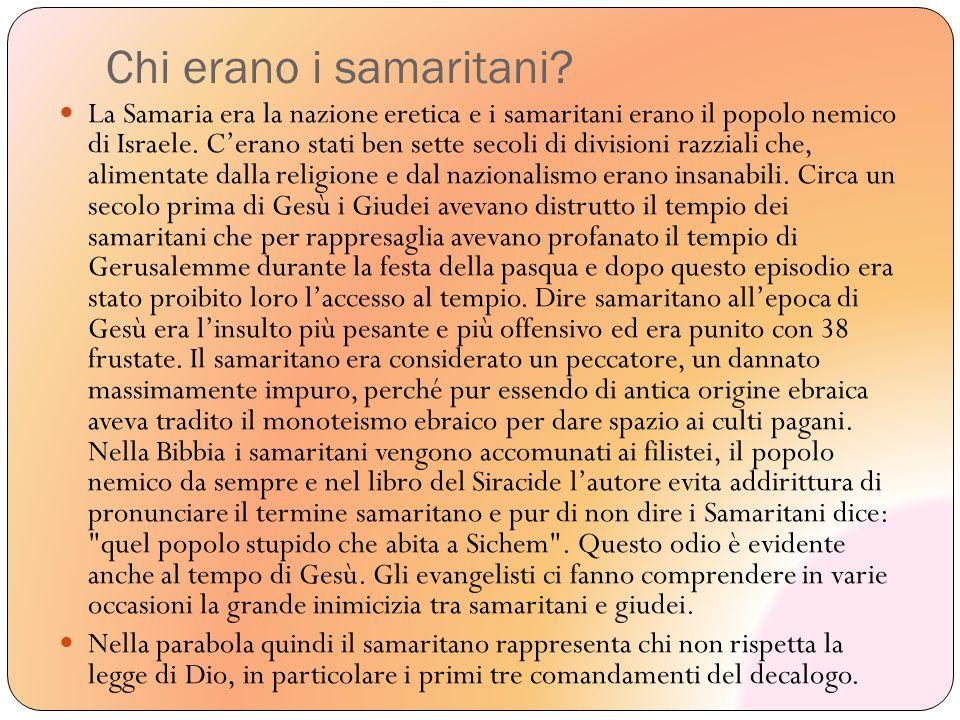 Chi erano i samaritani