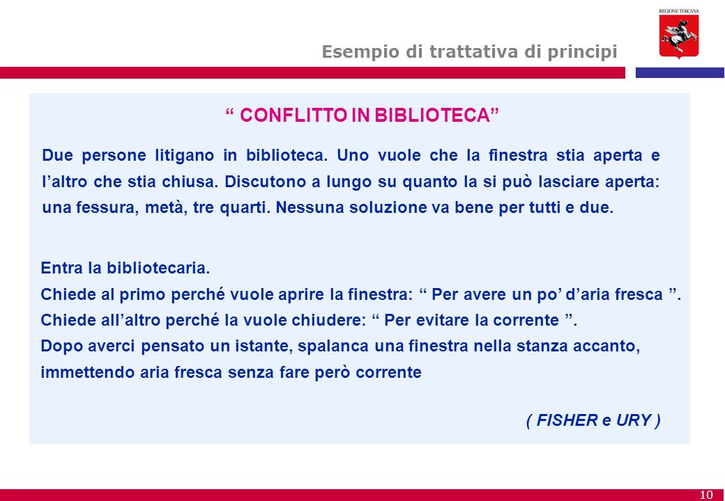 CONFLITTO IN BIBLIOTECA