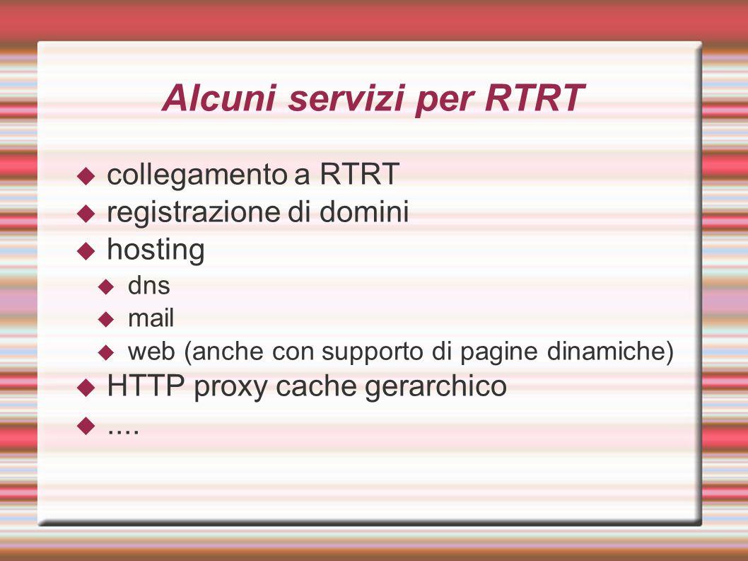 Alcuni servizi per RTRT