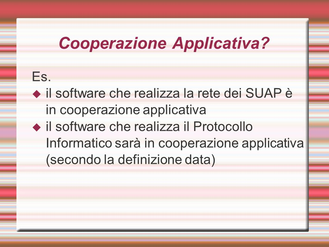 Cooperazione Applicativa