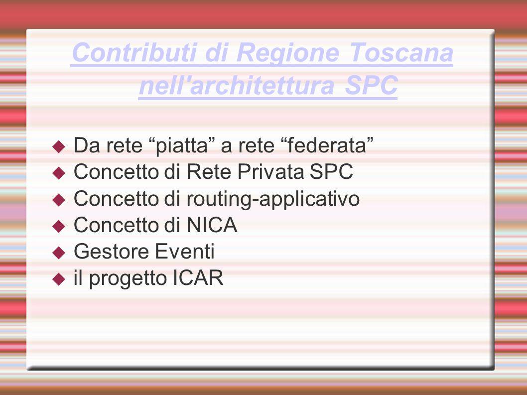 Contributi di Regione Toscana nell architettura SPC