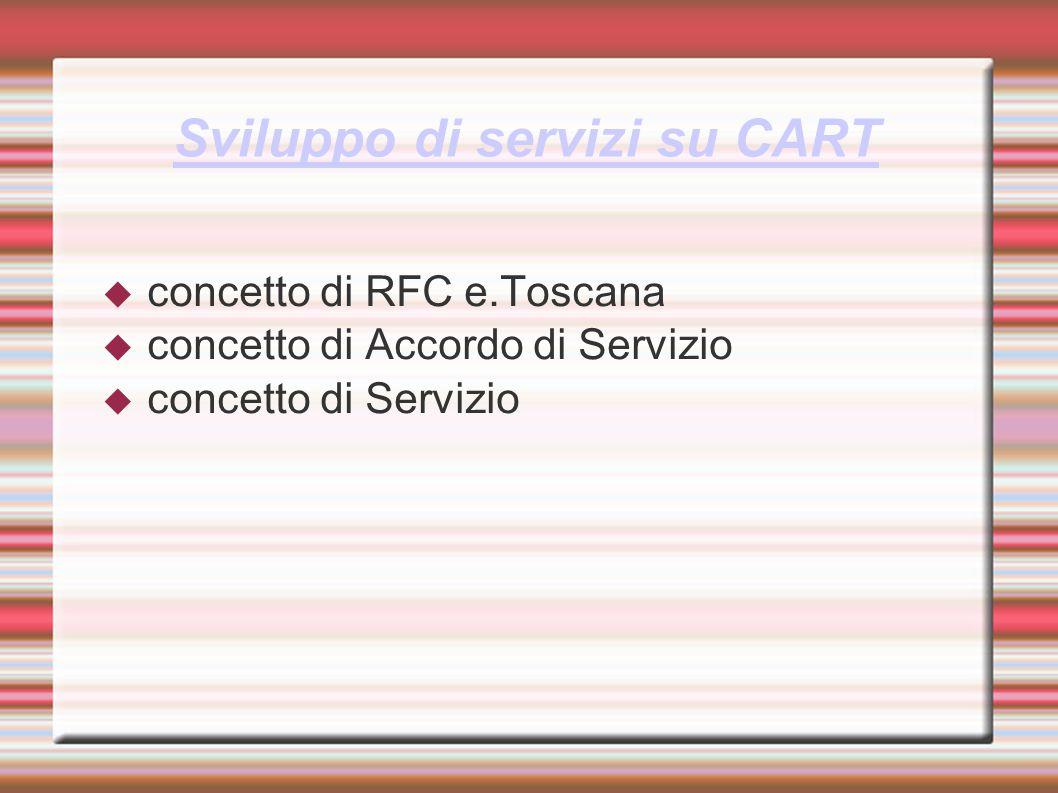 Sviluppo di servizi su CART