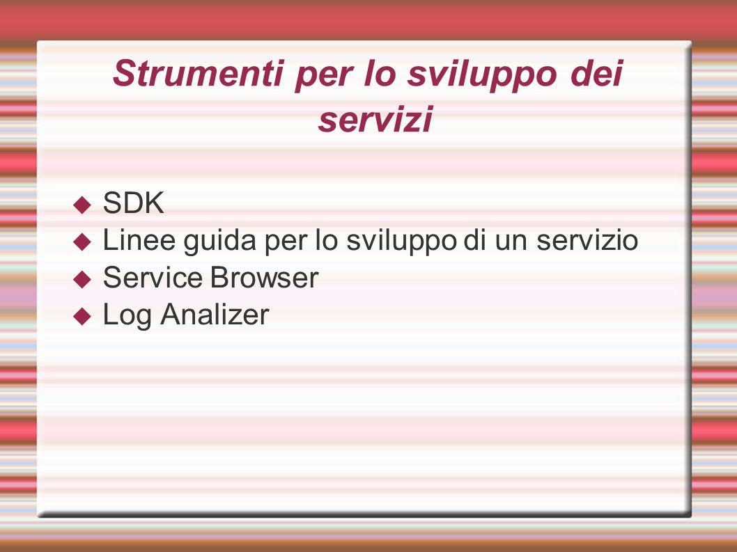 Strumenti per lo sviluppo dei servizi