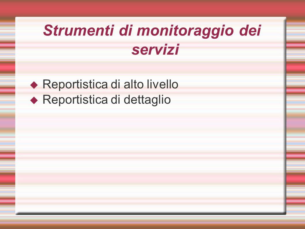 Strumenti di monitoraggio dei servizi