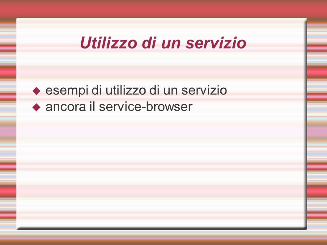 Utilizzo di un servizio