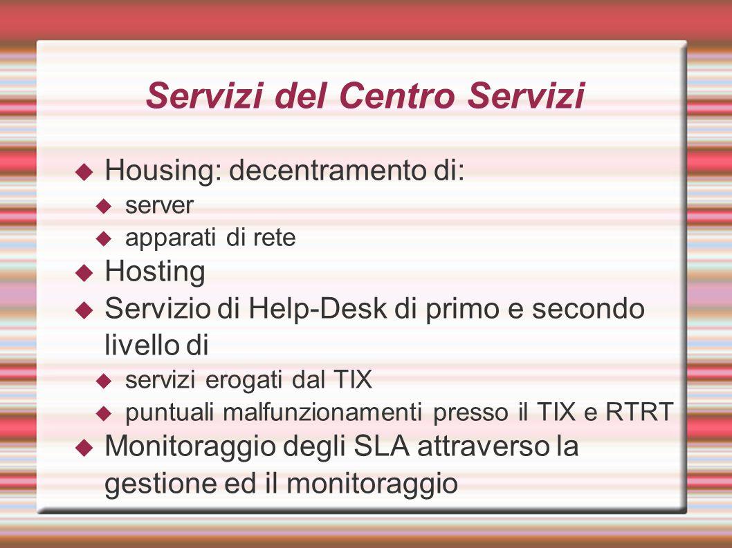 Servizi del Centro Servizi