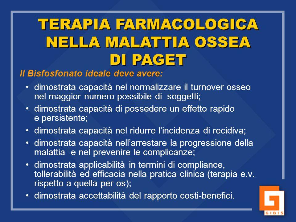 TERAPIA FARMACOLOGICA NELLA MALATTIA OSSEA DI PAGET