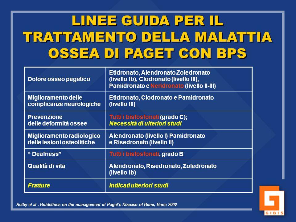 TRATTAMENTO DELLA MALATTIA OSSEA DI PAGET CON BPS