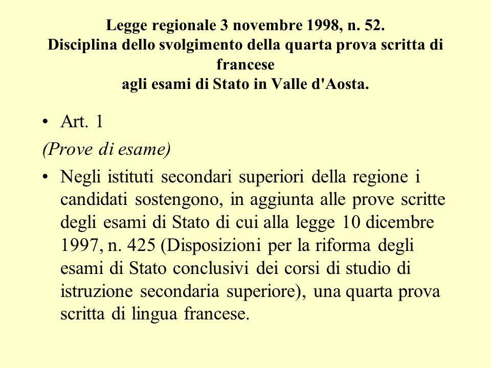 Legge regionale 3 novembre 1998, n. 52