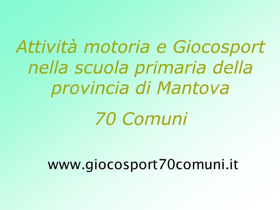 Attività motoria e Giocosport nella scuola primaria della provincia di Mantova