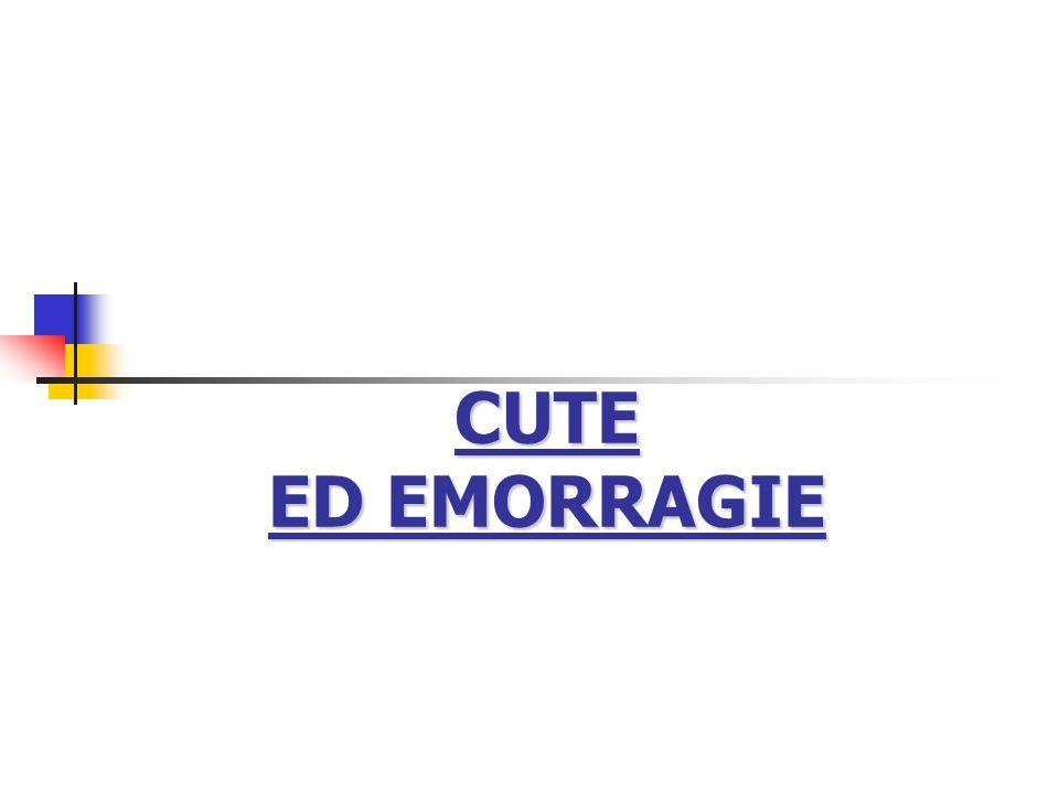 CUTE ED EMORRAGIE