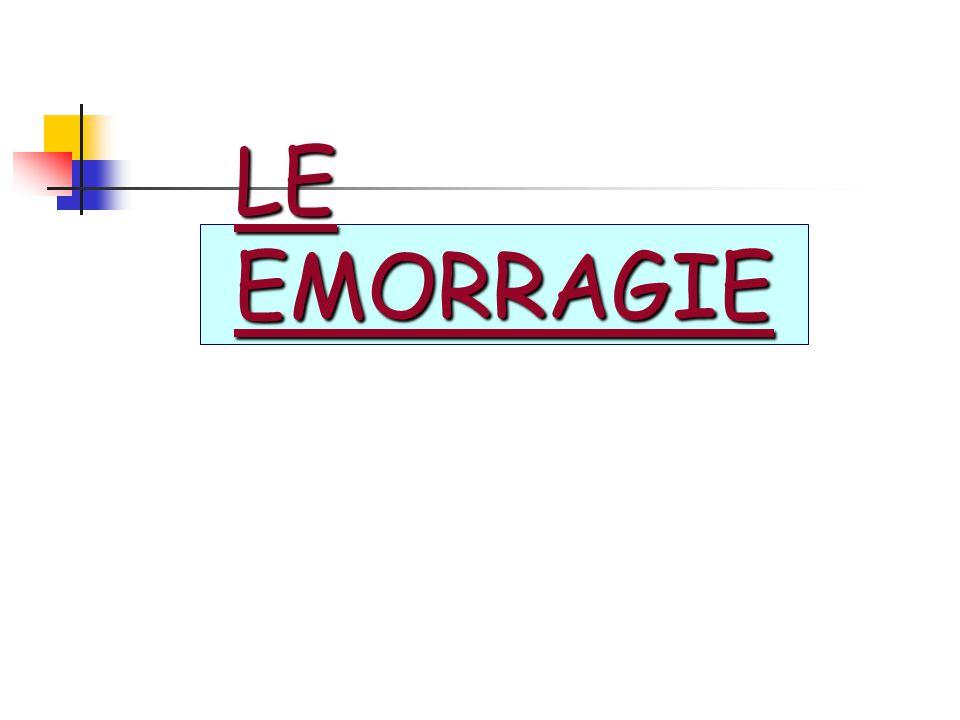 LE EMORRAGIE