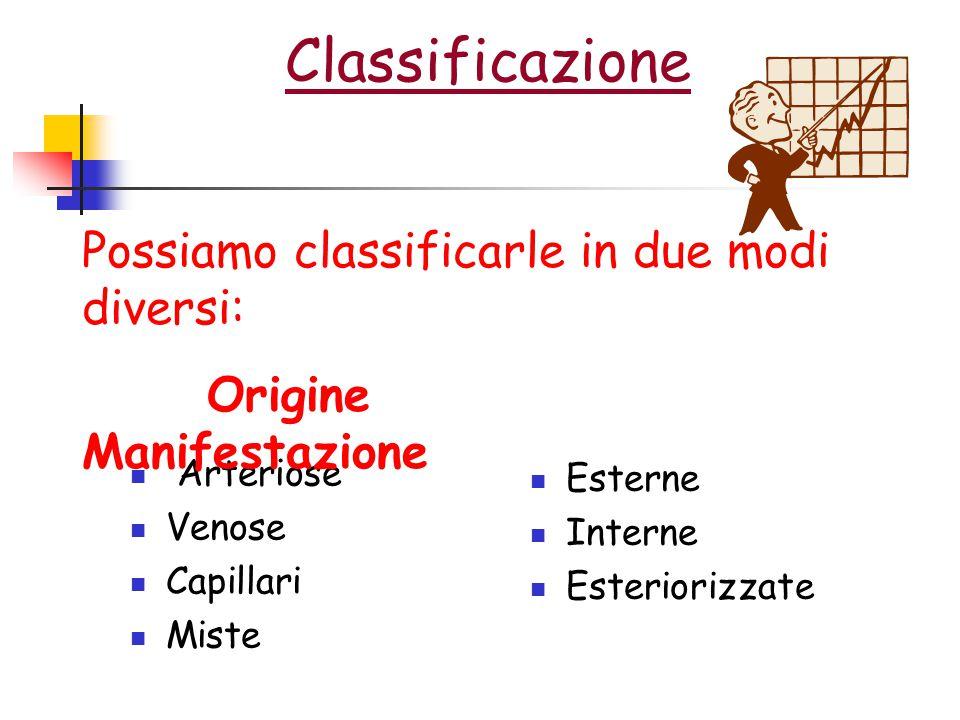Classificazione Possiamo classificarle in due modi diversi: