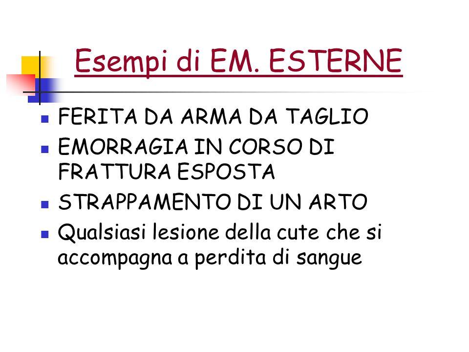 Esempi di EM. ESTERNE FERITA DA ARMA DA TAGLIO
