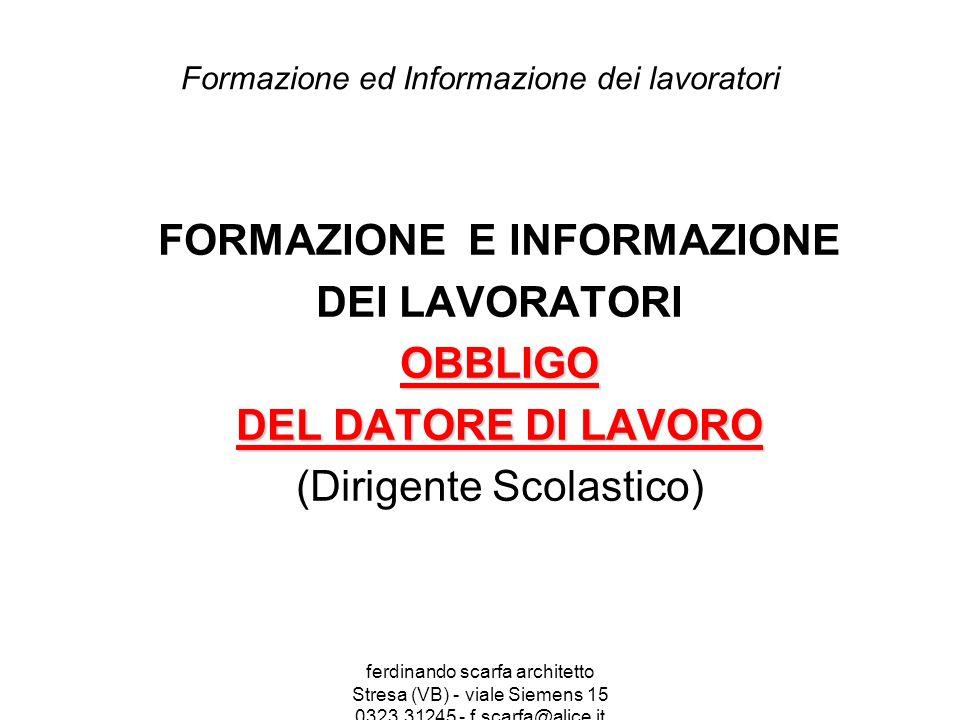 Formazione ed Informazione dei lavoratori