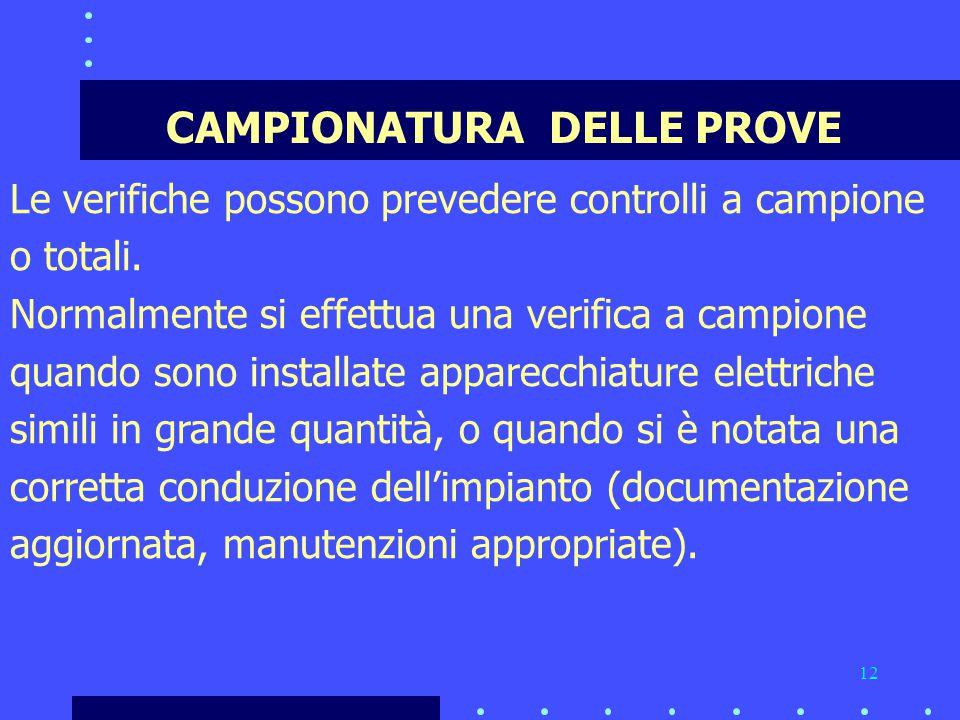 CAMPIONATURA DELLE PROVE