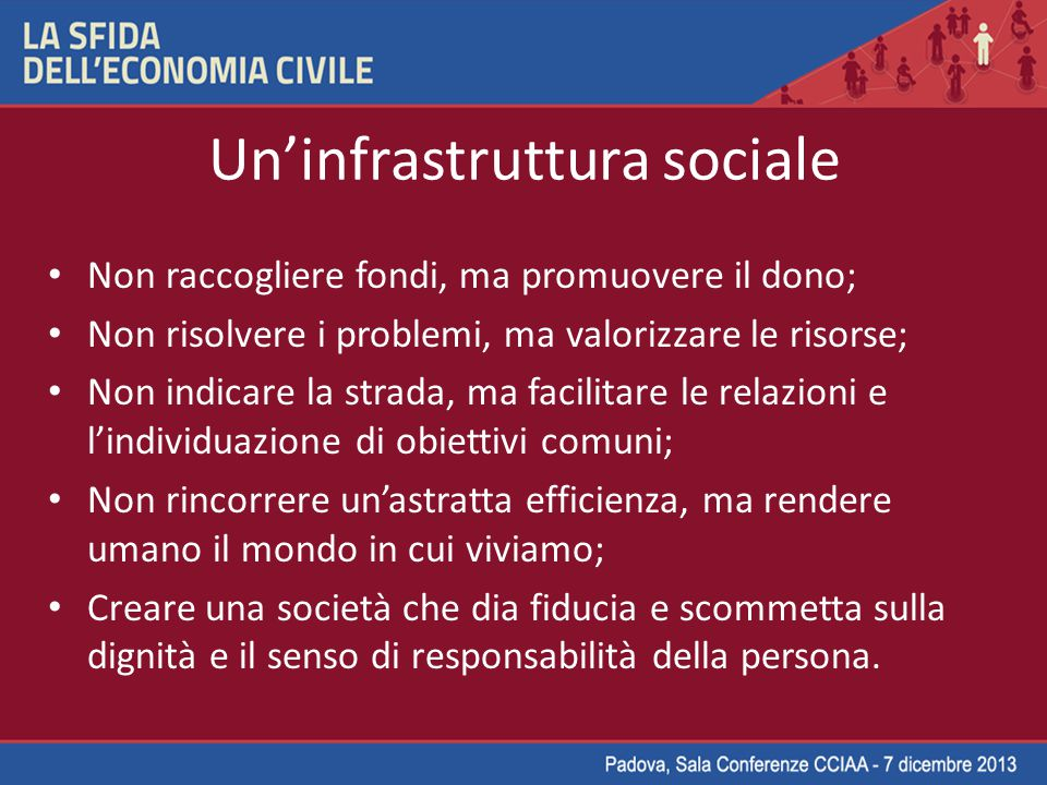Un'infrastruttura sociale
