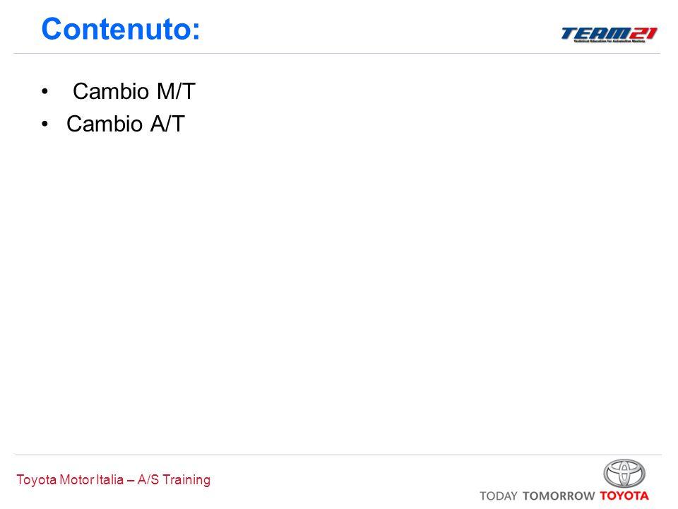 Contenuto: Cambio M/T Cambio A/T 9:00 0:15