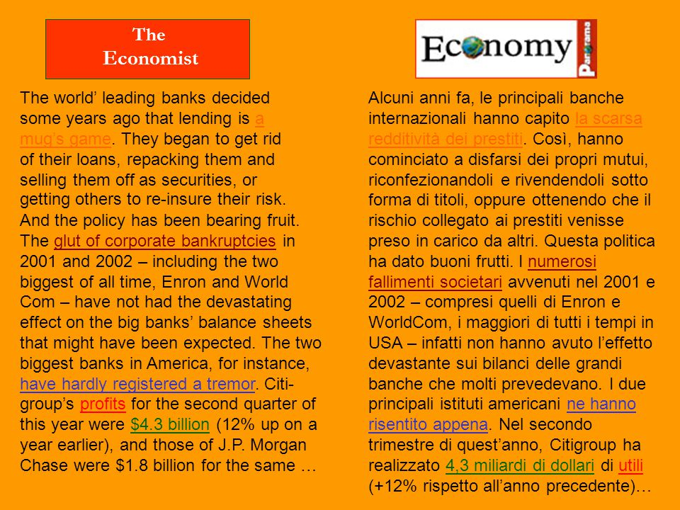 Economist The The world' leading banks decided