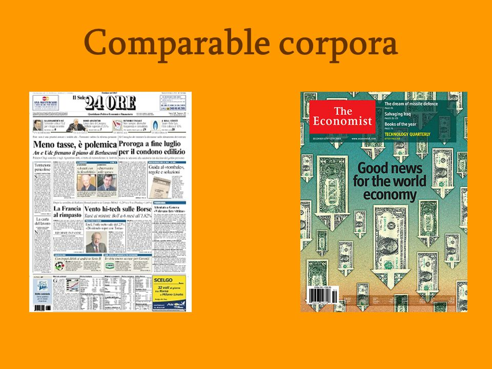 Comparable corpora