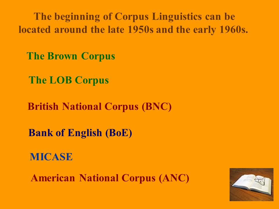 The beginning of Corpus Linguistics can be