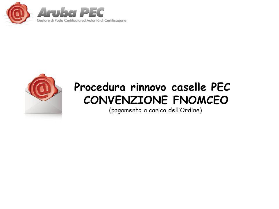 Procedura rinnovo caselle PEC CONVENZIONE FNOMCEO