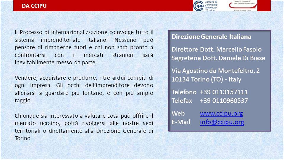 Direzione Generale Italiana Direttore Dott. Marcello Fasolo