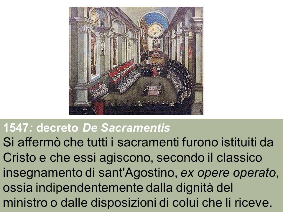 1547: decreto De Sacramentis