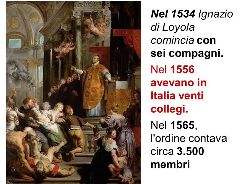 Nel 1534 Ignazio di Loyola comincia con sei compagni.