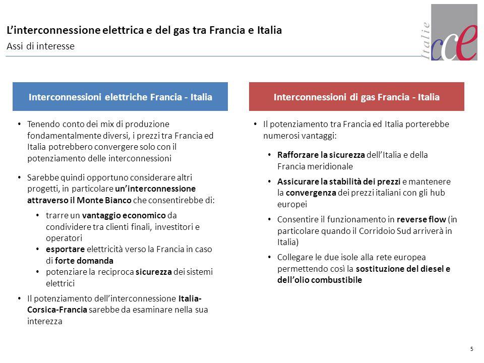 L'interconnessione elettrica e del gas tra Francia e Italia