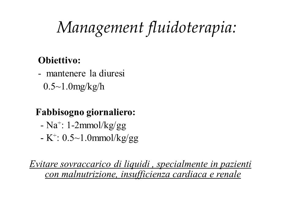 Management fluidoterapia: