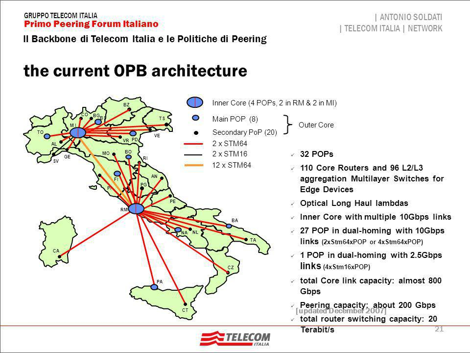The OPB general Services Scenario
