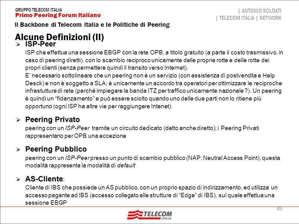 Politiche di routing di OPB (I)