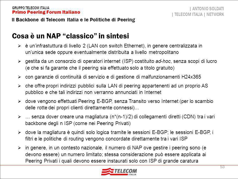 Tipica architettura di un NAP