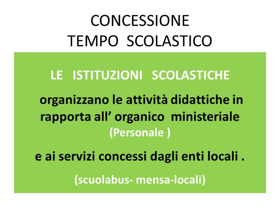CONCESSIONE TEMPO SCOLASTICO