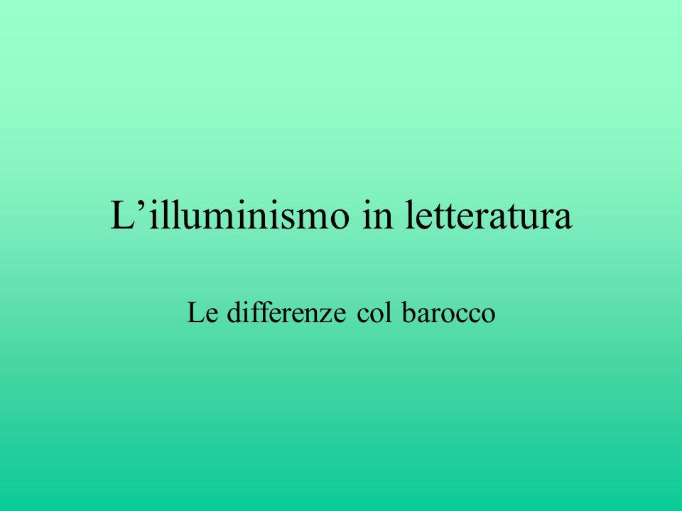 L'illuminismo in letteratura