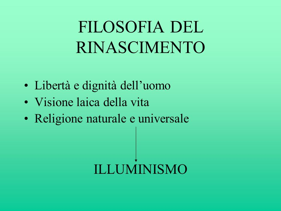 FILOSOFIA DEL RINASCIMENTO