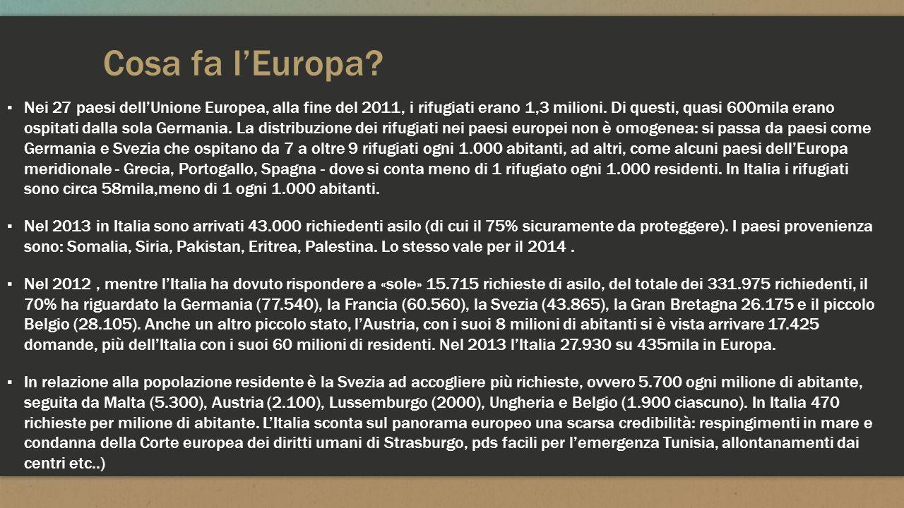 Cosa fa l'Europa